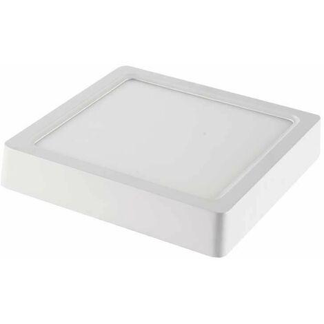 Downlight LED superficie cuadrado blanco 8W 120° PREMIUM