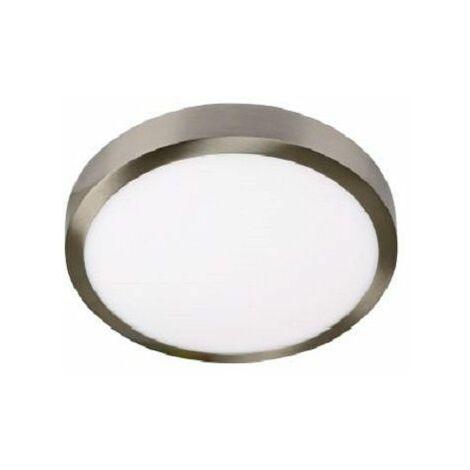 Downlight led superficie niquel 18w 6000k luz blanca