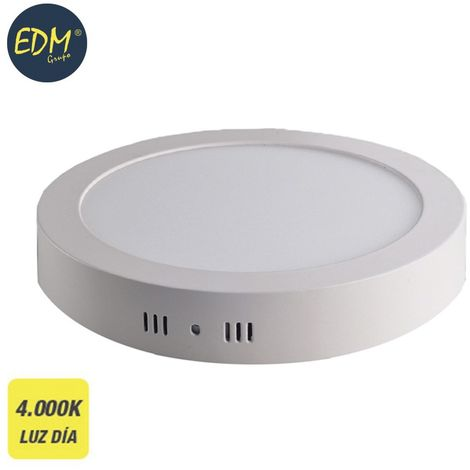 Downlight LED superficie redondo 20W 4000K 1500lm blanco EDM 31590