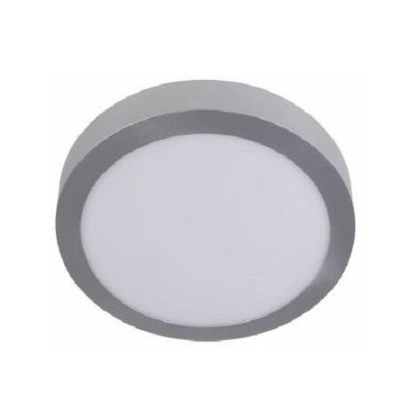 Downlight led superficie redondo plata 18w 6000k luz blanca