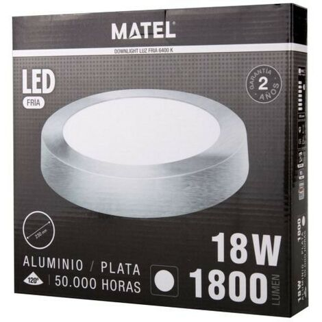 DOWNLIGHT LED SUPERF.REDON.PLATA 18W.FRI Matel