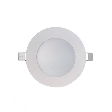 Downlight LED Ultraslim Empotrable Redondo 8W 600lm Ø10,5cm Aluminio