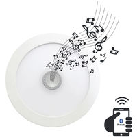 Downlight LED Ultraslim Empotrable Redondo con Altavoz Bluetooth Integrado 22W 1300lm Ø20,5cm