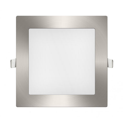 Downlight Panel LED Cuadrado Niquel 9W