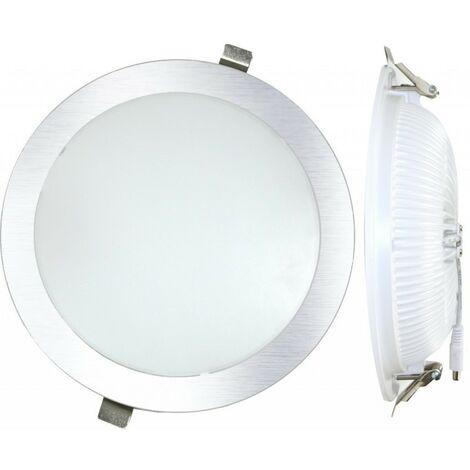 Downlight plano 25W Plata Silver Electronics