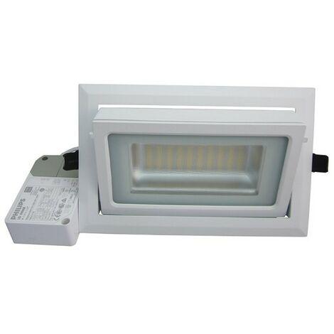 Downlight rectangular LED Foco ajustable 40W - 50,000 Horas 3 años de garantía