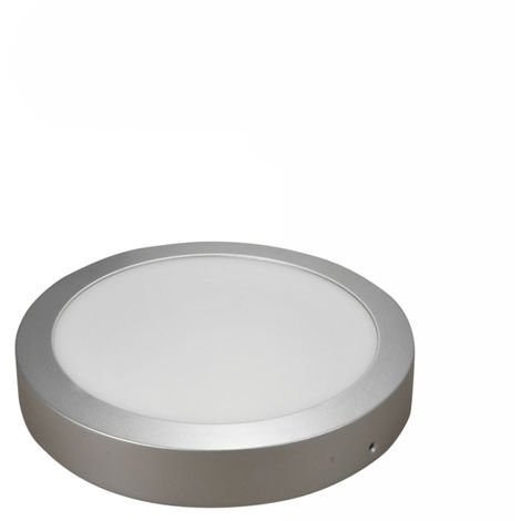 Downlight redondo superficie 18W Plata -Disponible en varias versiones