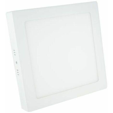 Downlight superficie cuadrado blanco 18W 3000K Breno Prilux