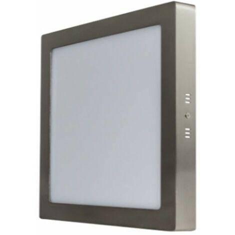 Downlight superficie cuadrado gris 18W 3000K Breno Prilux