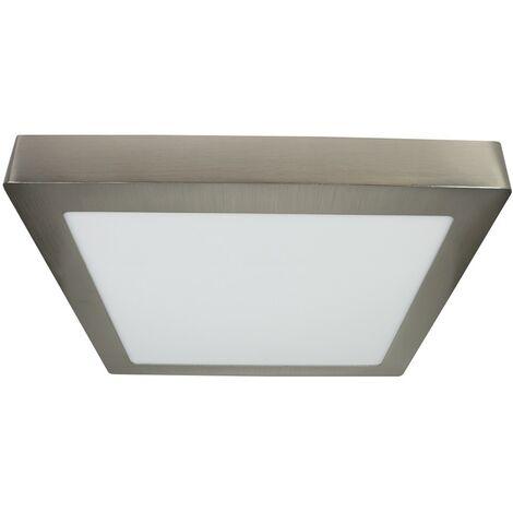 Downlight superficie cuadrado niquel satinado 25W - Niquel