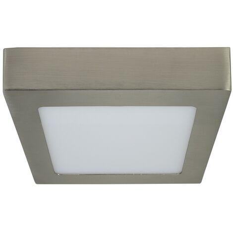Downlight superficie cuadrado niquel satinado 6W - Niquel Satinado