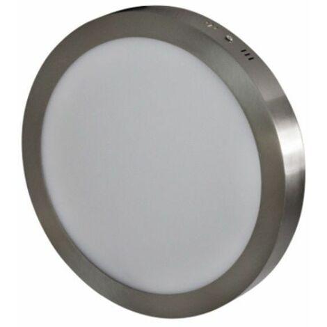 Downlight superficie gris 24W 3000K d.300mm Breno Prilux