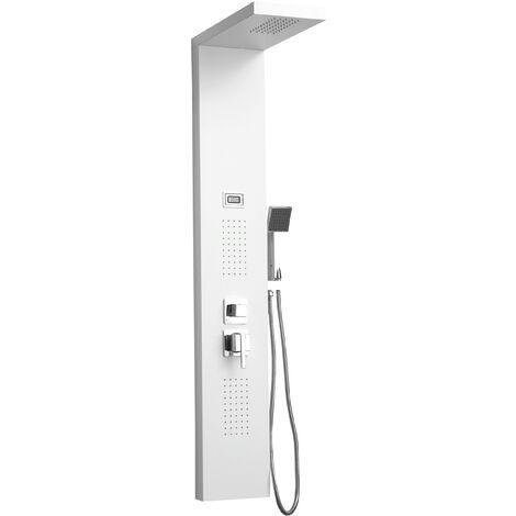 DP Grifería - Columna de hidromasaje en aluminio color blanco modelo Bahamas