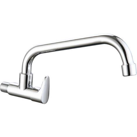 DP Grifería - Grifo monomando de fregadero de pared un agua modelo Cala