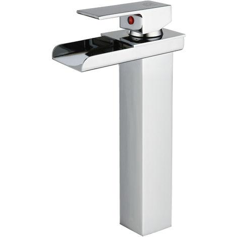 DP Griferia - Grifo monomando de lavabo alto modelo Aries con salida de agua efecto cascada