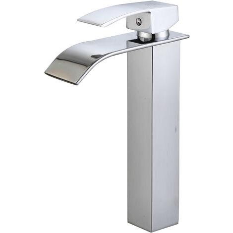 DP Griferia - Grifo monomando de lavabo alto modelo Eneldo con salida de agua efecto cascada