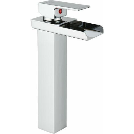 DP Grifería - Grifo monomando de lavabo efecto cascada modelo Menta Alto