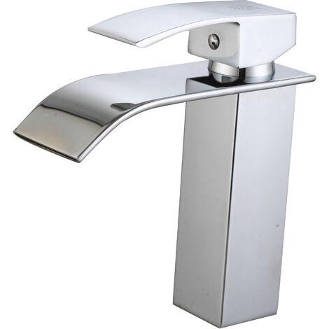DP Griferia - Grifo monomando de lavabo modelo Eneldo con salida de agua efecto cascada