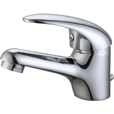 DP Grifería - Grifo monomando de lavabo serie Naranjo 35mm, color plateado