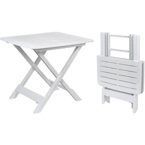 (DPD) Gartentisch TEVERE 80x72x70 - Farbe: weiß