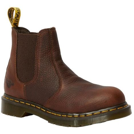 Dr Martens Womens/Ladies Arbor ST Elasticated Safety Leather Boot (7 UK) (Teak)