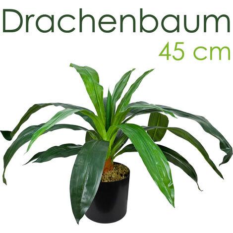 Drachenbaum Kunstpflanze Künstliche Pflanze mit Topf 45cm Decovego