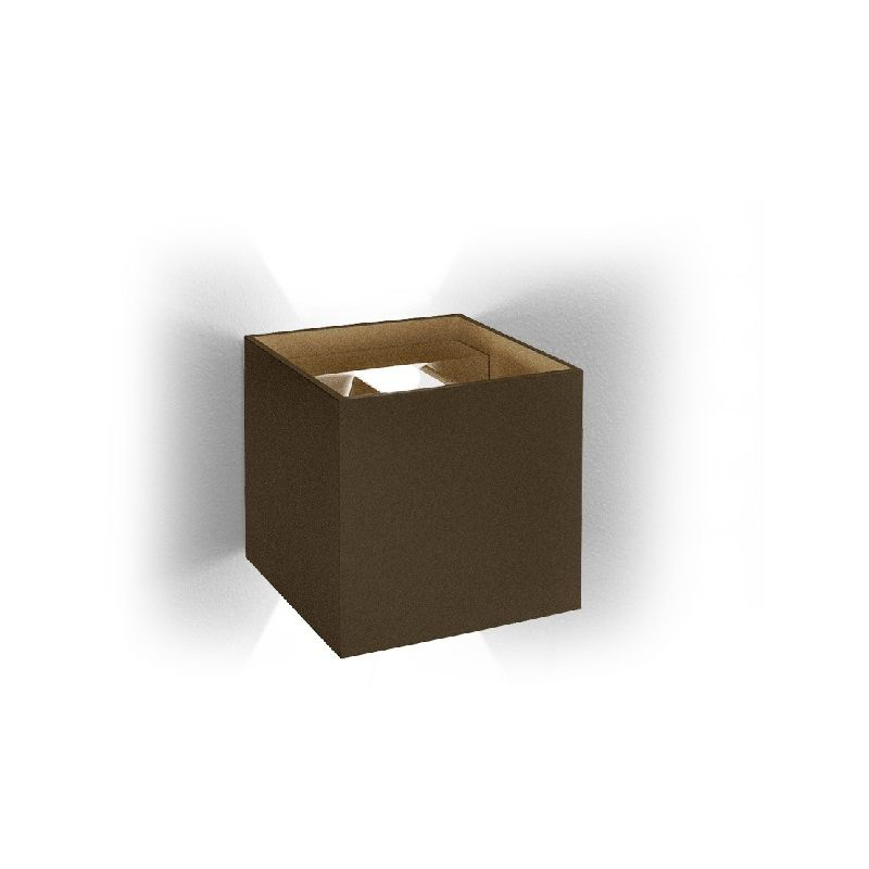 Homemania - Draco PANTONE Wandleuchte - PANTONE Wandleuchte - Quadratisch - Braun aus Aluminium, 10 x 10 x 10 cm, 1 x LED, 9W, 388lm, 3000K, 220-240V
