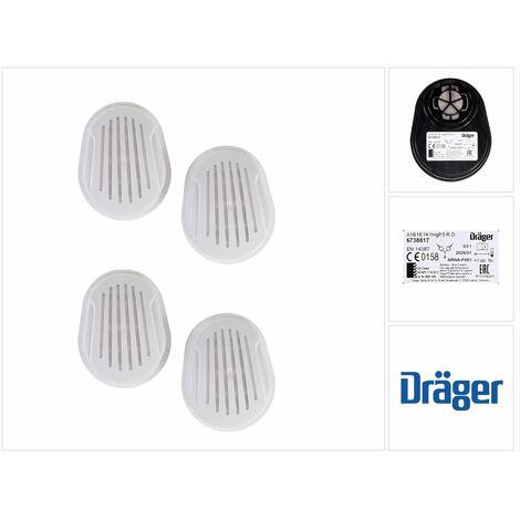 Dräger Set X-plore Kombinationsfilter Bajonett 4 Stück ( 2x 6738817 ) für X-plore 3300 / 3500 / 5500 ( A1B1E1K1 Hg P3 R D )