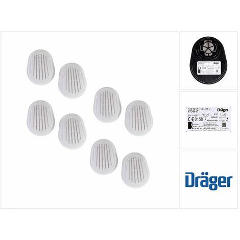 Dräger Set X-plore Kombinationsfilter Bajonett 8 Stück ( 4x 6738817 ) für X-plore 3300 / 3500 / 5500 ( A1B1E1K1 Hg P3 R D )