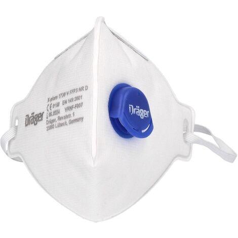 Dräger X-plore 1730 V FFP3 NR D Halbmaske 3 Stück FFP3 Partikelfiltrierend Universalgröße mit CoolMAX Ventil Atemschutzmaske
