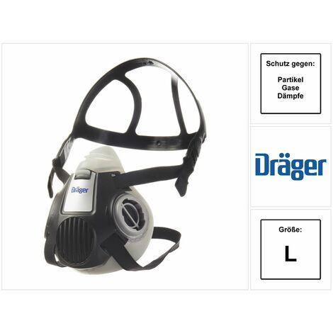 Dräger X-plore 3300 L Demi-masque respiratoire pour filtre à baïonnette taille L - sans filtre