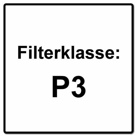 Dräger X-plore 3300 S Atemschutz Maske Halbmaske für Bajonettfilter Größe S + X-plore P3 R Partikelfilter 2 Stück Bajonettfilter
