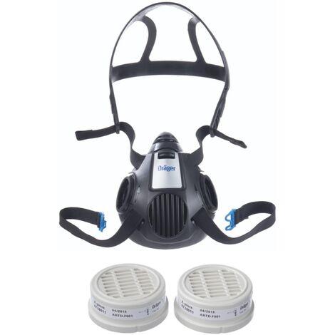Dräger X-plore 3500 L Atemschutz Maske Halbmaske für Bajonettfilter Größe L + 2x X-plore P3 R Partikelfilter ( 6738011 )