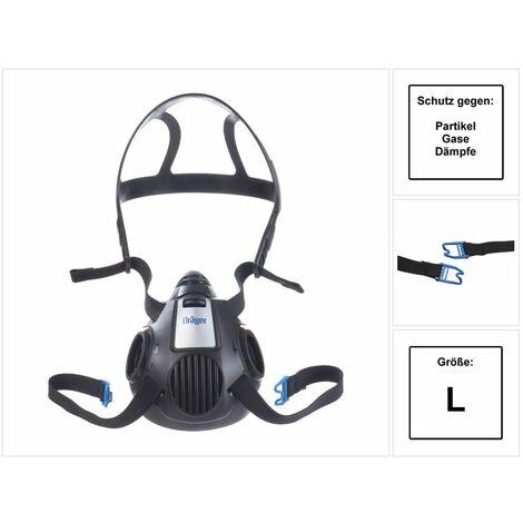 Dräger X-plore 3500 L Demi-masque respiratoire pour filtre à baïonnette de taille L - sans Filtre