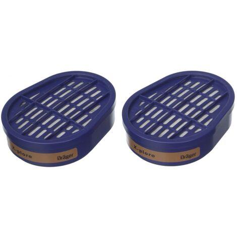 Dräger X-plore 3500 M Atemschutz Maske Halbmaske für Bajonettfilter Größe M + 2x X-plore A2 Gasfilter ( 6738873 )