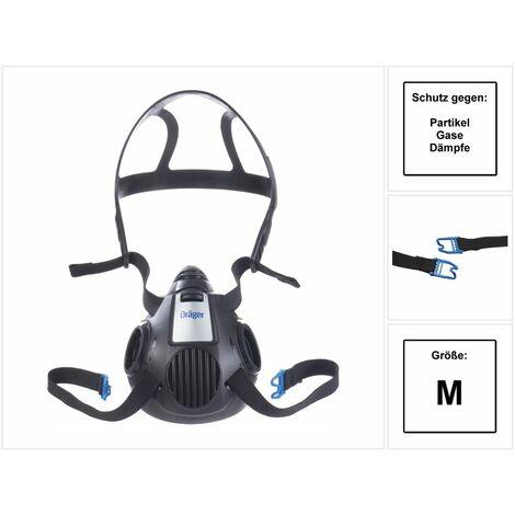 Dräger X-plore 3500 M Demi-masque respiratoire pour filtre à baïonnette de taille M - sans Filtre