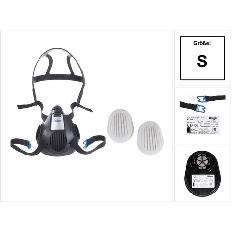 Dräger X-plore 3500 S Atemschutz Maske Halbmaske für Bajonettfilter Größe S + X-plore Kombinationsfilter Bajonett ( 6738817 ) A1B1E1K1 Hg P3 R D