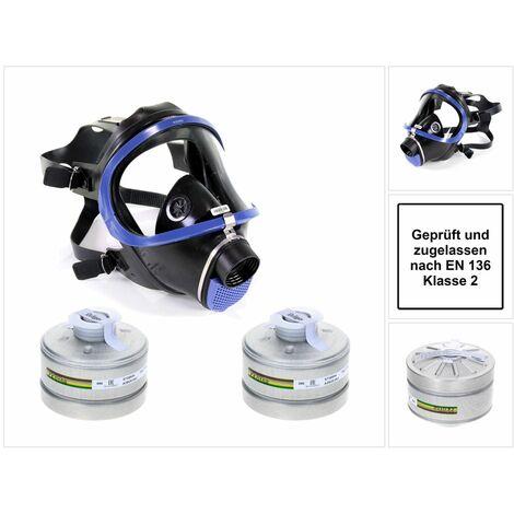 Dräger X-plore 6300 Atemschutzvollmaske aus Plexiglas ( R55800 ) EN 148-1 / EN 136 Klasse 2 + 2x Dräger X-plore Rd40 Atemschutzfilter A2B2E2K2 EN14387 ( 6738804 )