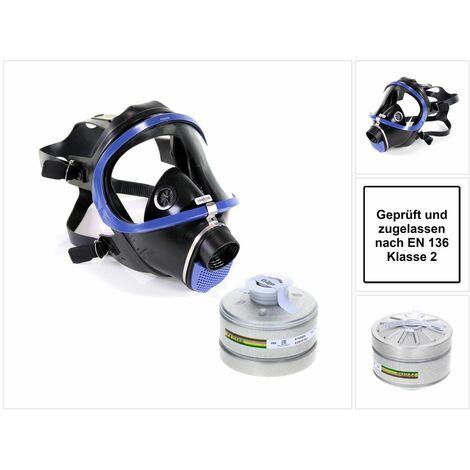 Dräger X-plore 6300 Atemschutzvollmaske ( R55800 ) EN 148-1 / EN 136 Klasse 2 + 1x Dräger X-plore Rd40 Atemschutzfilter A2B2E2K2 EN14387 ( 6738804 )