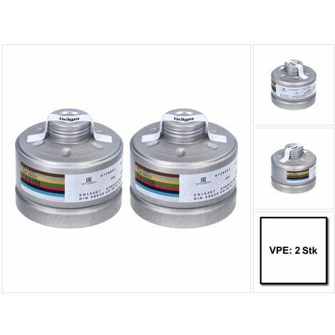 Dräger X-plore Rd40 Atemschutzfilter 2x A1B2E2K1 Hg CO NO-P3 RD ( 2x 6738801 ) EN148-1 für X-plore 6000 Vollmaske und Halbmasken X-plore 4000