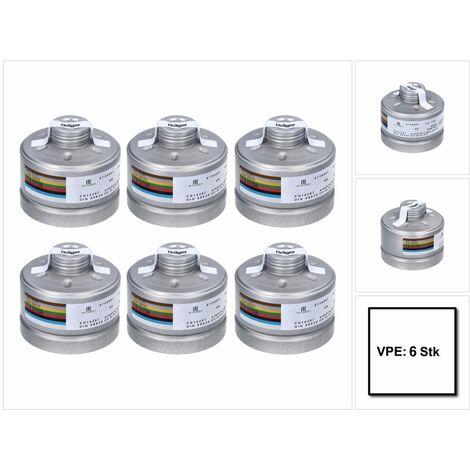Dräger X-plore Rd40 Atemschutzfilter 6x A1B2E2K1 Hg CO NO-P3 RD ( 6x 6738801 ) EN148-1 für X-plore 6000 Vollmaske und Halbmasken X-plore 4000