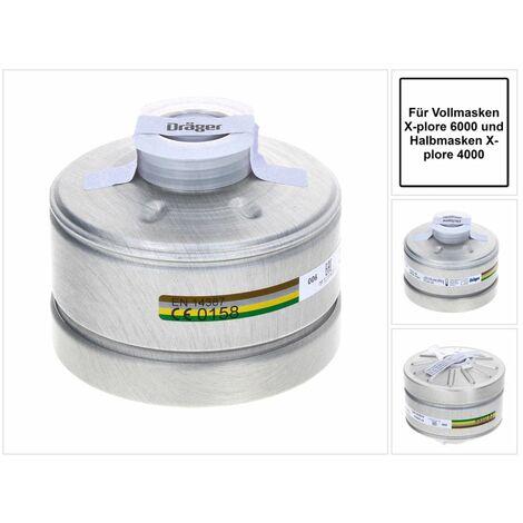 Dräger X-plore Rd40 Atemschutzfilter A2B2E2K2 EN14387 ( 6738804 ) für X-plore 6000 Vollmaske und Halbmaske X-plore 4000