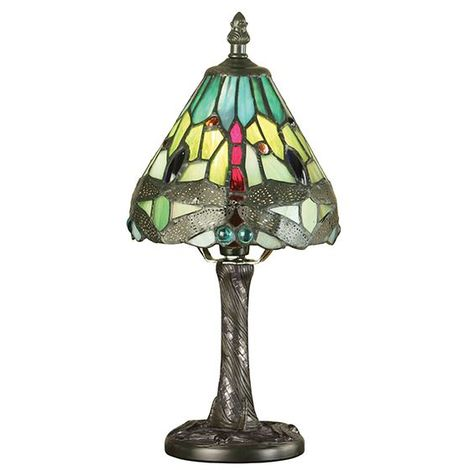 Dragonfly Green Mini Table Lamp 40W For Home Decor