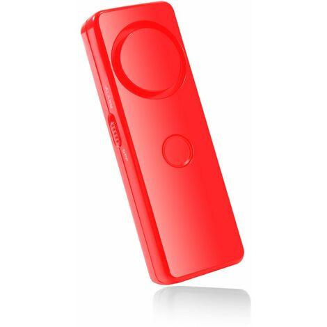 Dragonne d'alarme de securite d'urgence de l'alarme 120dB SOS d'autodefense, rouge