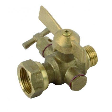 Drain ball valve, water-meter isolation, straight MF 1/2? 3/4?