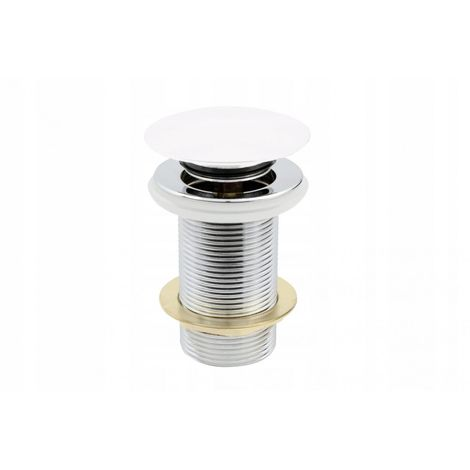 Drain plug click clack 5/4 without overflow white