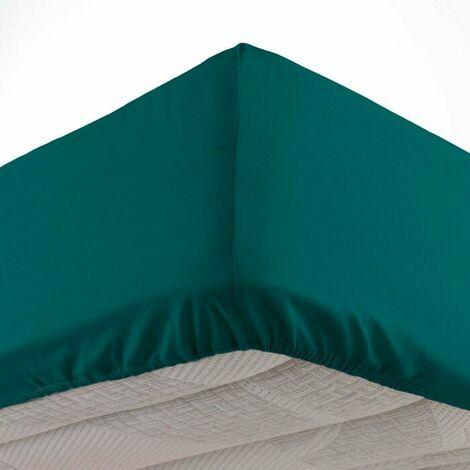 """main image of """"Drap housse 140 x 190 cm bonnet 30 cm Mmicrofibre Oscar Emeraude"""""""
