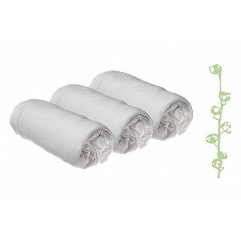 Drap housse Coton Bio pour lit king size 160x200 - Blanc