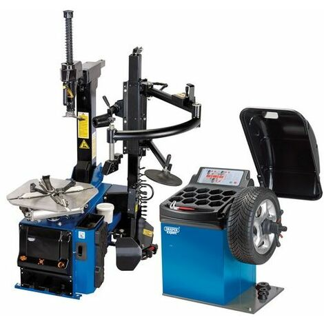 Draper 02152 Tyre Changer with Assist Arm and Wheel Balancer Kit