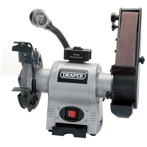 Draper 05096 150mm 370W 230V Bench Grinder with Sanding Belt and Worklight